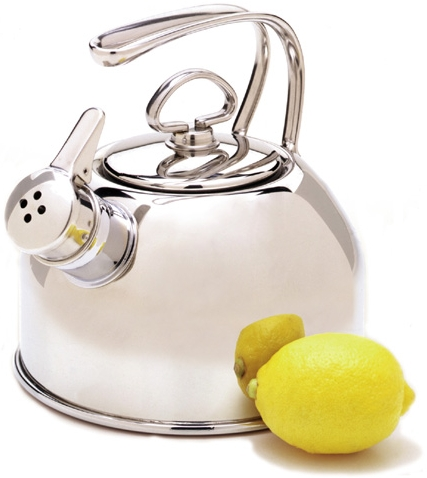 Chantal Stainless Steel Teakettle with Harmonica Whistle 1.8qts