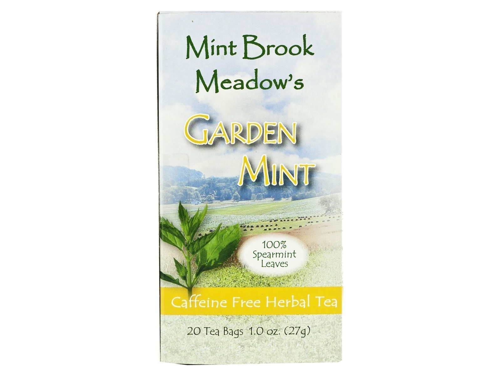 Mint Brooks Meadows Garden Mint Tea 20ct (6 Cartons) - CAFFEINE